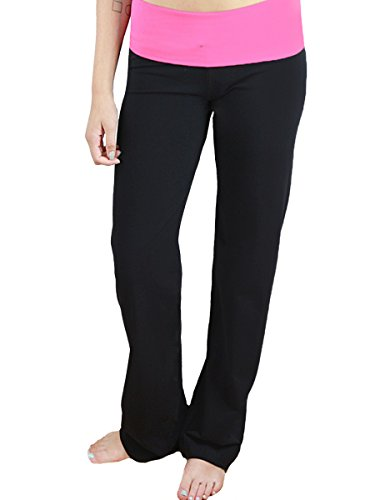 YogaColors Foldover Waist Straight Leg Yoga Pant